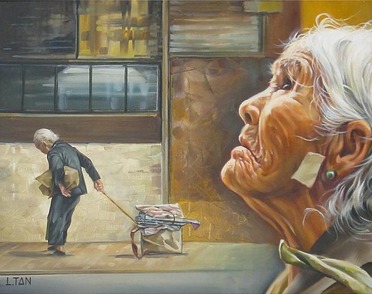 梁建新的绘画作品 - 关东画家俄罗斯的画友周伟民 - 关东画家俄罗斯的画友周伟民